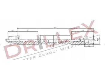 Directional boring machine Vermeer D36x50 Φ68 3m Drill pipes, żerdzie