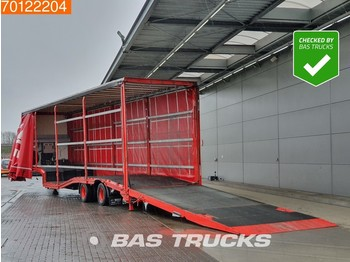 Low loader semi-trailer Wiese SA-31-SP-S 2 axles Forklift/Gabelstapler Transporte Lenkachse Hubdach