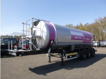 Tank semi-trailer OKM / Feldbinder Powder / food tank alu 37 m3 (tipping)