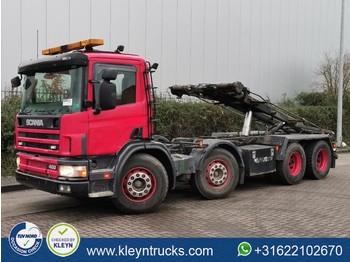 Scania P124.420 8x4 airco 452 tkm - cable system truck