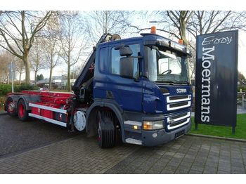 Scania P320 6x2*4 Kran + Container  - cable system truck